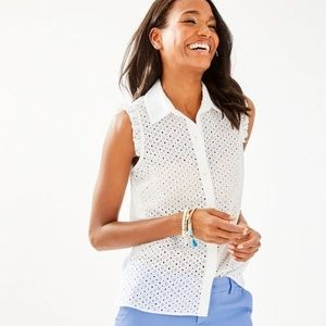 EUC Lilly Pulitzer Button Down Lenox Top